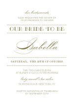 Wedding Shower Invitation - luxe