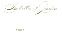 Place Card - luxe