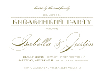 Engagement Party Invitation - luxe