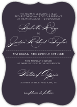 Wedding Invitations - luxe reverse