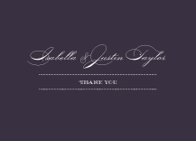 Wedding Thank You Card - luxe reverse