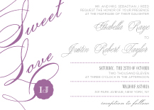 Wedding Invitations - sweet sweet love