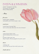 Menu - fresh tulips