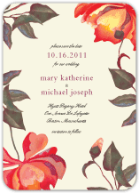 Save the Date Card - painted peonies