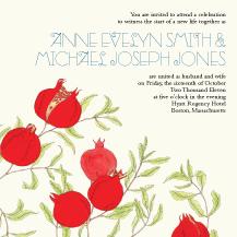 Wedding Invitations - lovely pomegranates