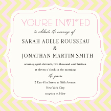 Wedding Invitations - dessert