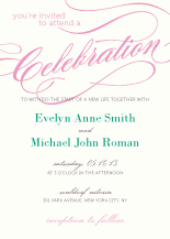 Wedding Invitations - calligraphy
