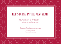 Holiday Party Invitations - ultra chic reverse
