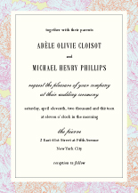Wedding Invitations - carnations