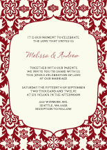 Wedding Invitations - elegant damask
