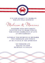 Wedding Invitations - crab nautical