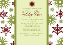 Holiday Party Invitations - holiday cheer
