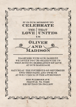 Wedding Invitations - vintage scrolls