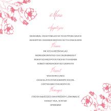 Menu - garden wedding