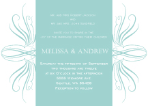 Wedding Invitations - elegant curves