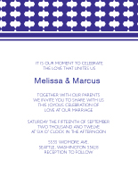 Wedding Invitations - octo shapes