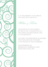 Wedding Invitations - swirls of love