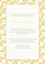 Wedding Invitations - yellow grey ferns