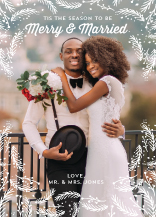 Christmas Cards - merry and married