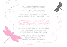 Wedding Invitations - dragon flies