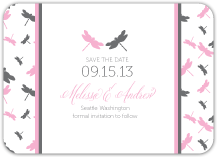 Save the Date Card - dragon flies