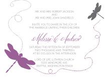 Wedding Invitations - dragon flies
