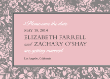 Save the Date Card - one sweet love