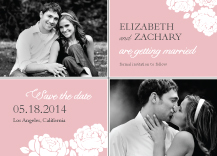 Save the Date Card with photo - one sweet love