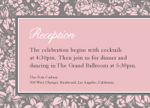 Reception Card - one sweet love