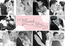 Wedding Thank You Card with photo - one sweet love