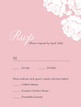 Response Card with menu options - one sweet love