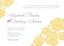 Wedding Invitations - one sweet love