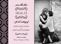 Save the Date Card with photo - forever & ever