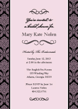 Wedding Shower Invitation - forever & ever