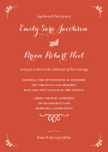 Wedding Invitations - head over heels