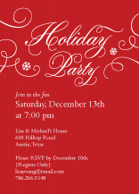 Holiday Party Invitations - blustery swirls