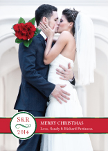 Christmas Cards - merry monogram