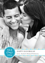Hanukkah Cards - merry monogram