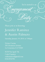 Engagement Party Invitation - always & forever