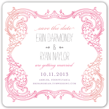 Save the Date Card - timeless romance