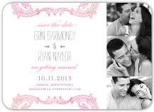 Save the Date Card with photo - timeless romance