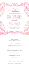 Wedding Program - timeless romance