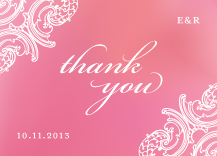 Wedding Thank You Card - timeless romance