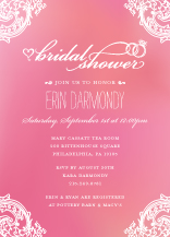 Wedding Shower Invitation - timeless romance