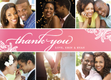 Wedding Thank You Card with photo - timeless romance