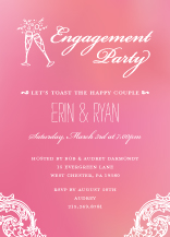 Engagement Party Invitation - timeless romance