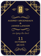 Save the Date Card - vintage glamour