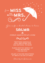 Wedding Shower Invitation - meant to be