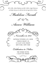 Wedding Invitations - love letter calligraphy