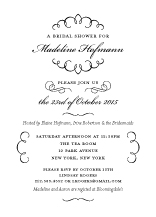 Wedding Shower Invitation - love letter calligraphy